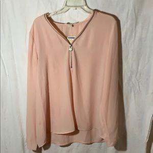 Peach casual blouse